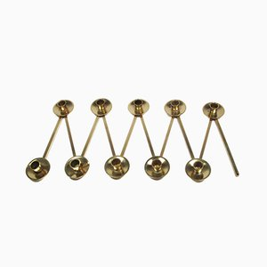 Vintage Swedish Brass Candle Holder, 1950s