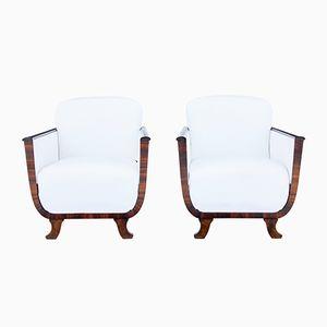 Art Deco Scandinavian Lounge Armchairs, 1930s, Set of 2