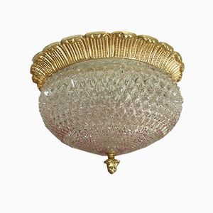 Mid-Century Ceiling Lamp in Crystal Glass from Limburg, 1960s