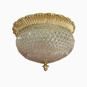 Mid-Century Deckenlampe aus Kristallglas von Limburg, 1960er