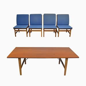 Vintage Teak & Oak Dining Set by Børge Mogensen for Fredericia