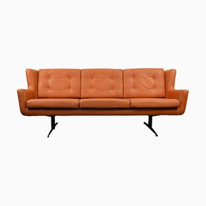 Dänisches Vintage 3-Sitzer Sofa aus Leder von Skjold & Sørensen