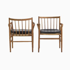 Vintage J81 Armlehnstuhl von Jørgen Baekmark für FDB, 2er Set