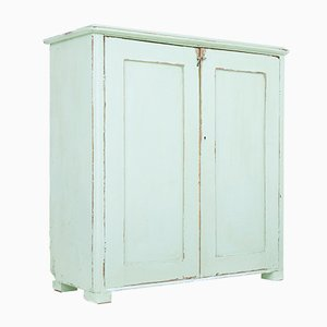 19th-Century Painted Pine Cupboard