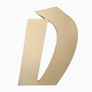 Vintage Letter D Sign