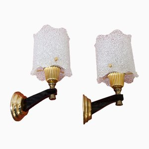 Brass, Bakelite & Granite Sconces, 1960s, Set of 2