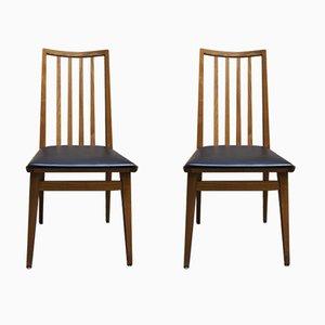 Chaises Scandinaves Vintage en Similicuir, 1960s, Set de 2