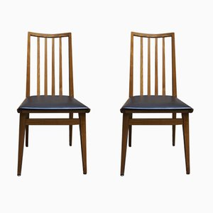 Vintage Scandinavian Leatherette Chairs, 1960s, Set of 2