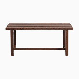 Tavolino moderno Mid-Century in wengé massiccio