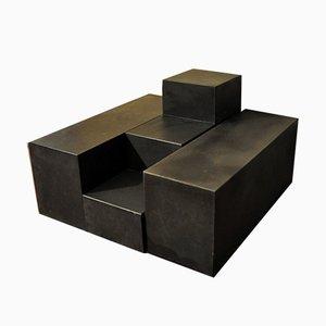 Tavolini Scacchi modulari di Mario Bellini per B&B Italia, anni '60, set di 3