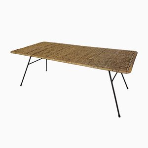 Rattan & Metal Coffee Table, 1950s