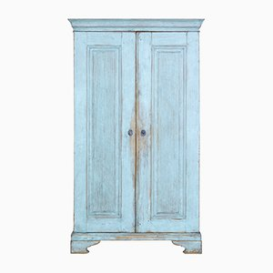 Tall Antique Swedish Painted Pine Cupboard
