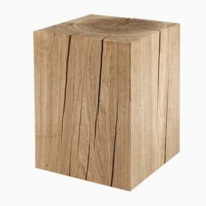 Table Cube en Chêne Massif par Rose Uniacke