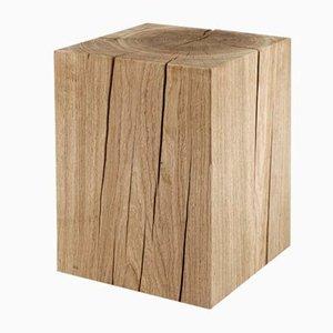 Tavolo cubico in legno di quercia massiccio di Rose Uniacke