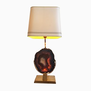 Large Agate Table Lamp by Willy Daro, 1970s