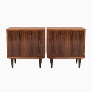 Danish Rosewood Cabinets from Hundevad, 1960s, Set of 2