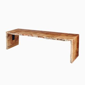 Waney Edge Oak Bench by Rose Uniacke