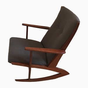 Rocking Chair Modèle No97 en Teck par Georg Jensen pour Kubus, 1950s
