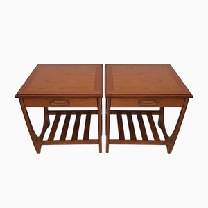 Tables de Chevet en Teck par Victor Wilkins pour G-Plan, 1960s, Set de 2