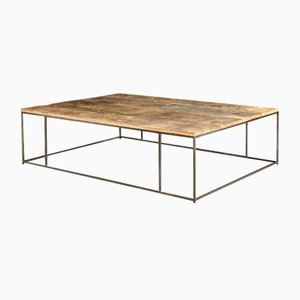 Patinated Steel Coffee Table by Rose Uniacke