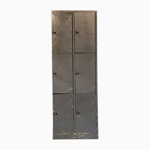 Industrielle Vintage Fabrikspinde aus Metall