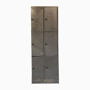Vintage Industrial Metal Factory Locker