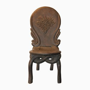 Antique Mahogany Folding Chair