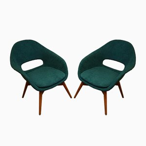 Shell armchairs by Miroslav Navrátil, 1950s, Set of 2