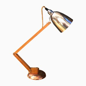 Mid-Century Copper Metallic Maclamp Table Lamp by Terence Conran for Habitat