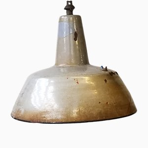 Lámpara industrial esmaltada de S.E.M. Reluma, años 30