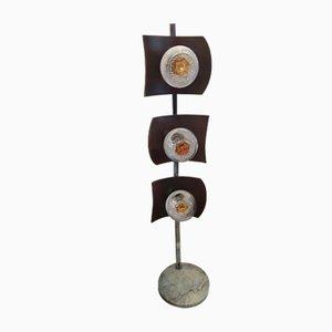Lámpara de pie de Murano de Toni Zuccheri, años 70
