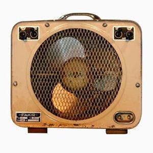 Ventilador cuadrado de metal de Fakir, años 60