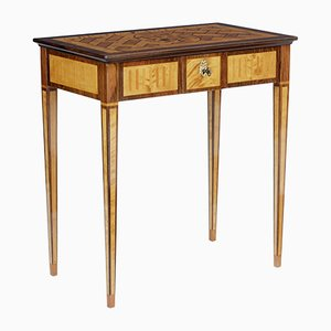 Vintage Walnut and Satinwood Side Table