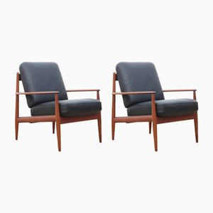 Scandinavian Teak Armchairs by Grete Jalk for France & Søn, 1960s, Set of 2