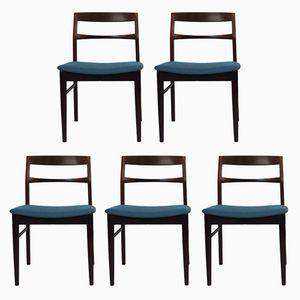 Skandinavische Vintage Stühle aus Palisander, 5er Set