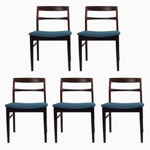 Vintage Scandinavian Rosewood Chairs, Set of 5