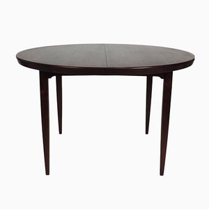 Round Vintage Rosewood Table