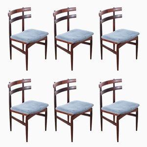 Skandinavische 30 Rio Stühle aus Palisander von Poul Hundevad, 6er Set