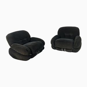 Lounge Chairs by Adriano Piazzesi, 1970s, Set of 2