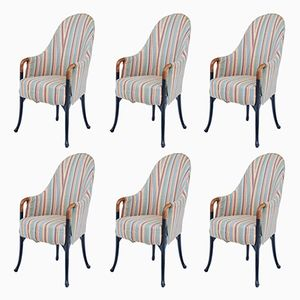 Vintage Progetti Dining Chairs by Umberto Asnago for Giorgetti, Set of 6