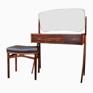 Rosewood Dressing Table and Stool by Arne Vodder, 1960s