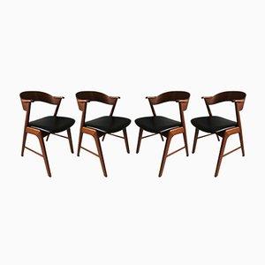 Chaises Modèle 32 par Kai Kristiansen pour Schou Andersen, 1950s, Set de 4