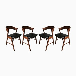 Model 32 Chairs by Kai Kristiansen for Schou Andersen, 1950s, Set of 4