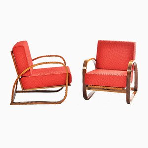 Vintage Model H70 Armchairs by Jindřich Halabala for UP Závody, Set of 2