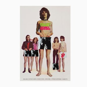 The Rolling Stones' Sticky Fingers US Promotional Poster, 1971