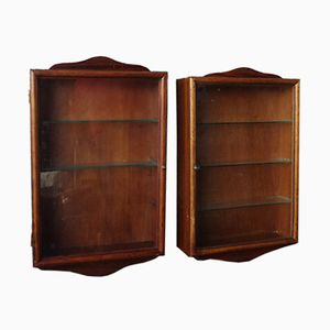 Mid-Century Wooden Cabinets, Set of 2