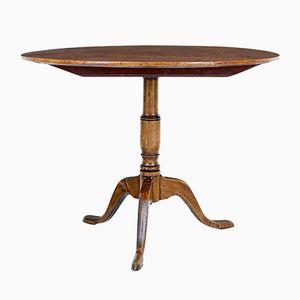 Tavolo antico con ripiano a ribalta in ontano, metà XIX secolo