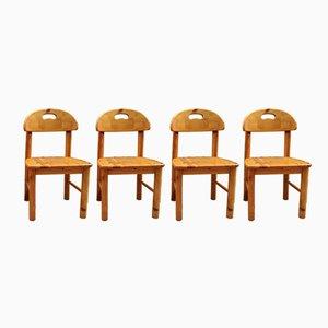 Chaises de Salon en Pin Massif par Rainer Daumiller, 1960s, Set de 4