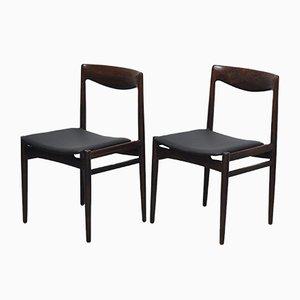 Dänische Mid-Century Stühle aus Palisander, 1960er, 2er Set