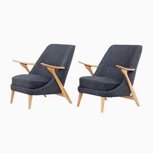 Mid-Century Armlehnstühle von Svante Skogh für Seffle Mobelfabrik, 2er Set